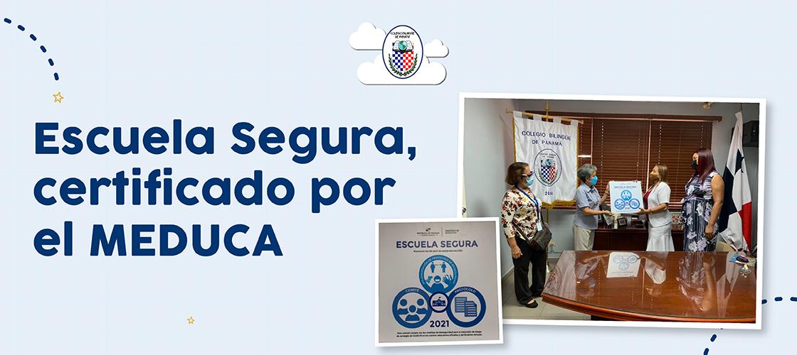 escuela segura, certificado por meduca